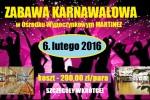 Zabawa Karnawałowa - Martinez - 2016 - plakat