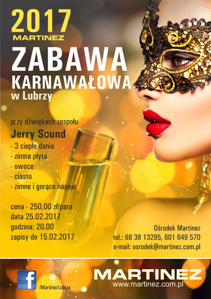 Zabawa Karnawałowa 2017 - Martinez - plakat