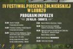 Plakat - IV Festiwal Piosenki Żołnierskiej w Lubrzy