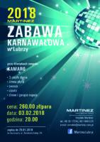Zabawa Karnawałowa 2018 - plakat