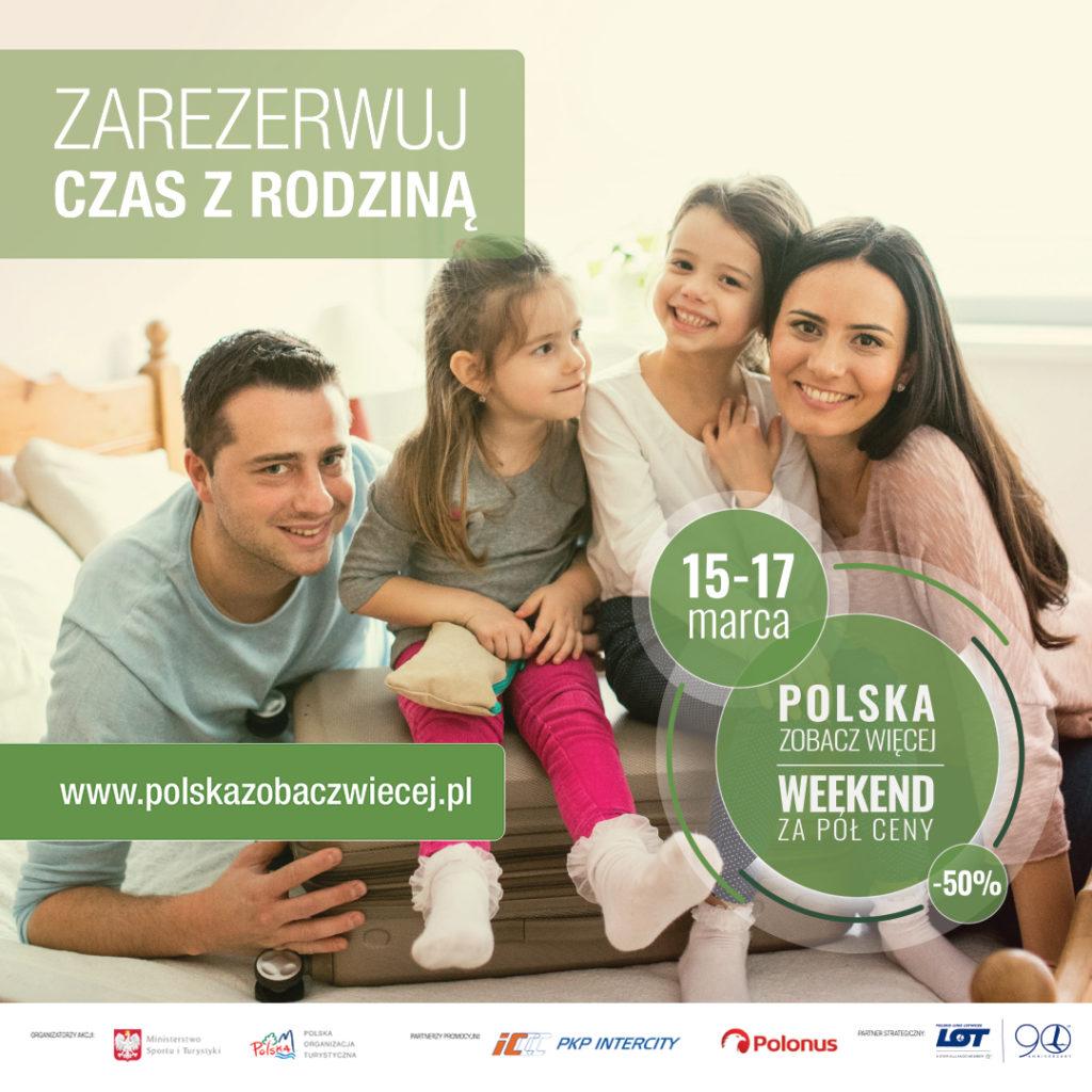"""Baner """"Polska zobacz więcej – weekend za pół ceny"""""""