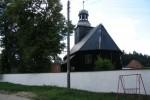 Nowa Wioska. Barokowy kościół drewniany z 1670r. z charakterystyczną dzwonnicą (fot. Piotr Kułak)